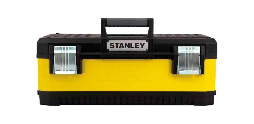 Ящик для инструментов Stanley 20, 50 х 28 х 21 см1-95-612Stanley 1-95-612 - большой металлопластиковый ящик для инструментов. Стенки данной модели выполнены из окрашенного металла. Крышка ящика сделана из прочного пластика с рифленой поверхностью и пазом для удержания пиломатериалов. Ящик закрывается двумя большими металлическими замками с возможностью дополнительного запирания на навесной замок. Характеристики: Материал:пластик, металл. Размеры ящика: 50 см х 28 см х 21 см. Глубина ящика: 15 см. Размеры лотка: 38 см х 24 см х 3 см. Размеры упаковки: 50 см х 28 см х 21 см.