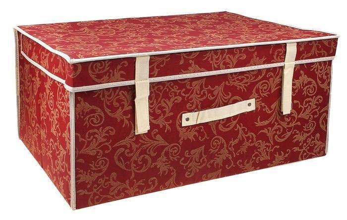 контейнер для хранения(жёсткий) 60*40*30см,бордовый 830830Декоративный контейнер - отличный способ для хранение вещей!Благодаря универсальности изделия, в контейнере можно хранить самые разнообразные вещи: бижутерию, лекарства, швейные принадлежности.Такой контейнер поможет держать вещи в порядке. Декоративный контейнер даст Вам возможность сохранить все в одном месте, а также защитить вещи от пыли, грязи и влаги. Материал: Флизелин,картон