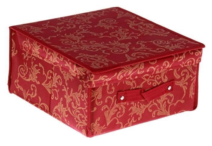контейнер для хранения(жёсткий)29*28*15см,бордовый 838838Декоративный контейнер - отличный способ для хранение вещей!Благодаря универсальности изделия, в контейнере можно хранить самые разнообразные вещи: бижутерию, лекарства, швейные принадлежности.Такой контейнер поможет держать вещи в порядке. Декоративный контейнер даст Вам возможность сохранить все в одном месте, а также защитить вещи от пыли, грязи и влаги. Материал: флизелин,картон