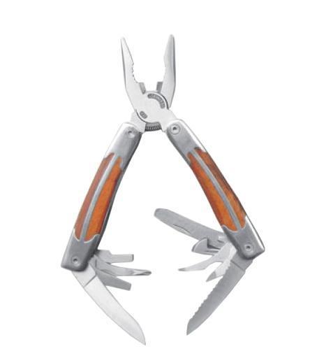 Мультитул Stinger MT-3080, цвет: серебристый, коричневый, 10 инструментов