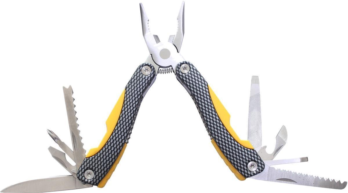 Мультитул Stinger, цвет: желтый, черный, серебристый, 9 инструментов. MT-A605COY