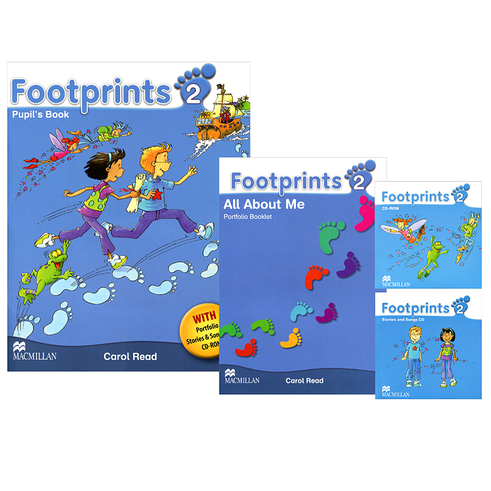 Footprints 2: Pupil's Book (комплект из 2 книг + 2 CD) simply fiirst for schools fce student s book self study guide комплект из 2 х книг в упаковке cd