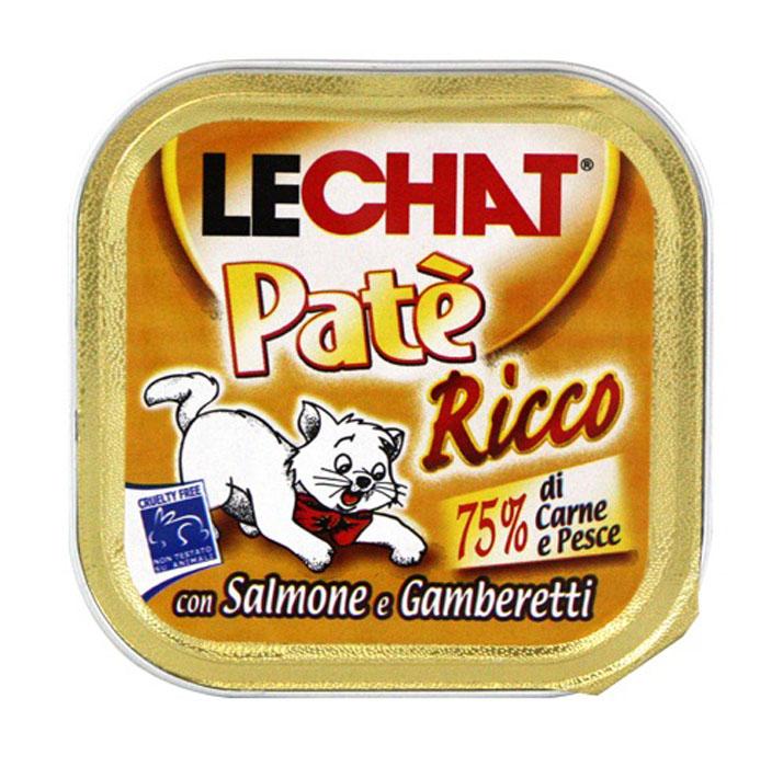 Консервы для кошек Monge Lechat, с лососем и креветками, 100 г70008112Консервы для кошек Monge Lechat - это полноценный сбалансированный корм для кошек с лососем и креветками. Состав: рыба и рыбные субпродукты 41% (из которых лосось и креветки 4,5%), мясо и мясные субпродукты 41%, минеральные вещества, сахар, витамины. С разрешенными в ЕЭС консервантами. Анализ компонентов: протеин 8%, жир 7,5%, клетчатка 0,5%, зола 2,5%, влажность 81%. Витамины и добавки на 1 кг: витамин Е 5 мг. Товар сертифицирован.