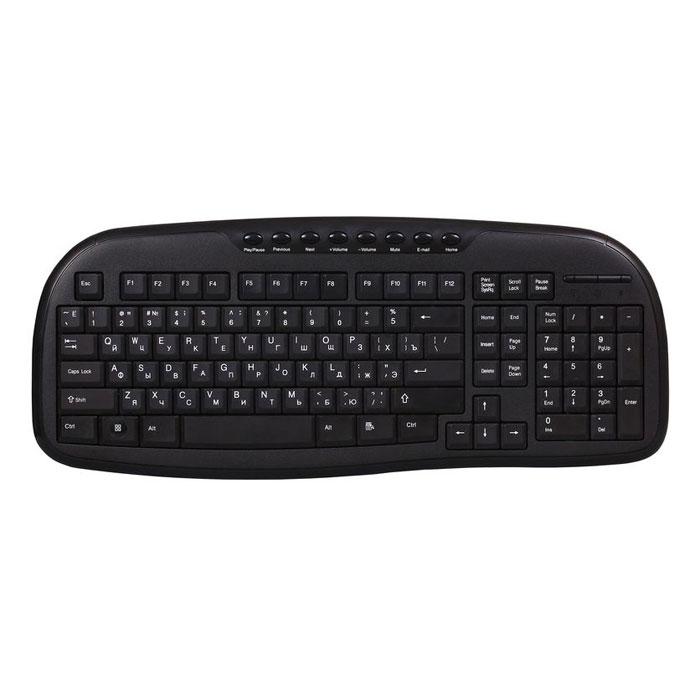 Smartbuy SBK-205U-K, Black проводная клавиатура клавиатура asus strix tactic pro cherry mx black black usb 90yh0081 b2ra00