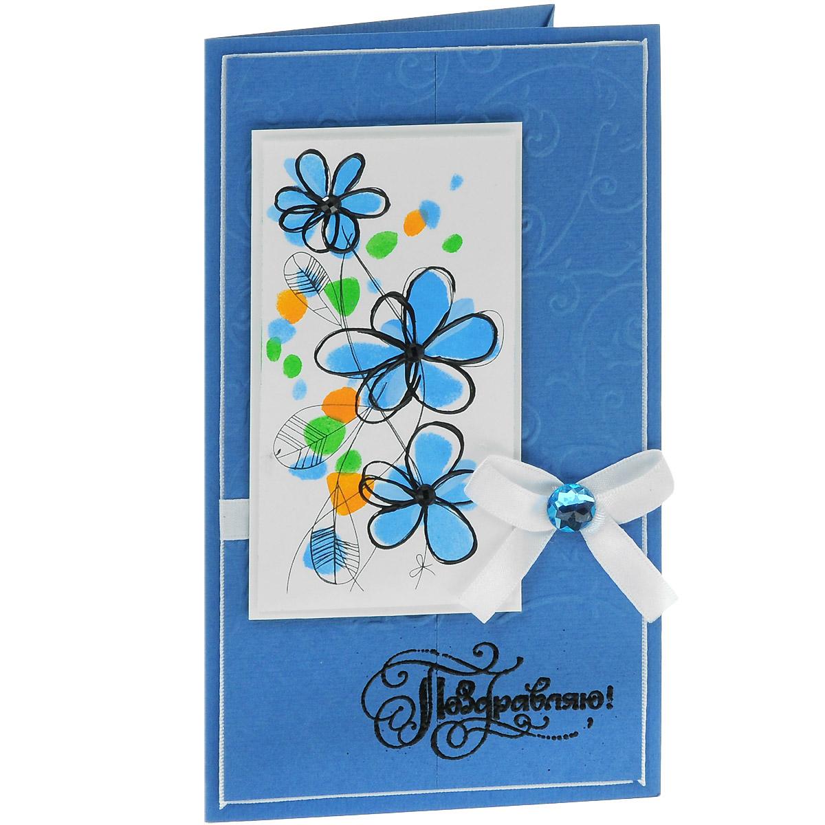 ОЖ-0022 Открытка-конверт «Поздравляю!». Студия «Тётя Роза»514-950Характеристики: Размер 19 см x 11 см.Материал: Высоко-художественный картон, бумага, декор. Данная открытка может стать как прекрасным дополнением к вашему подарку, так и самостоятельным подарком. Так как открытка является и конвертом, в который вы можете вложить ваш денежный подарок или просто написать ваши пожелания на вкладыше. Оригинальное решение открытки в графическом изображении подложки. Цветочки прорисованы вручную акриловыми красками иконтурными пастами. В декоре используется атласная лента и жемчужная полубусина. В серединки цветов вклеены черные сверкающие стразы. Надпись выполнена в технике горячего термоподъема. Также открытка упакована в пакетик для сохранности.Обращаем Ваше внимание на то, что открытка может незначительно отличаться от представленной на фото.Открытки ручной работы от студии Тётя Роза отличаются своим неповторимым и ярким стилем. Каждая уникальна и выполнена вручную мастерами студии. (Открытка для мужчин, открытка для женщины, открытка на день рождения, открытка с днем свадьбы, открытка винтаж, открытка с юбилеем, открытка на все случаи, скрапбукинг)