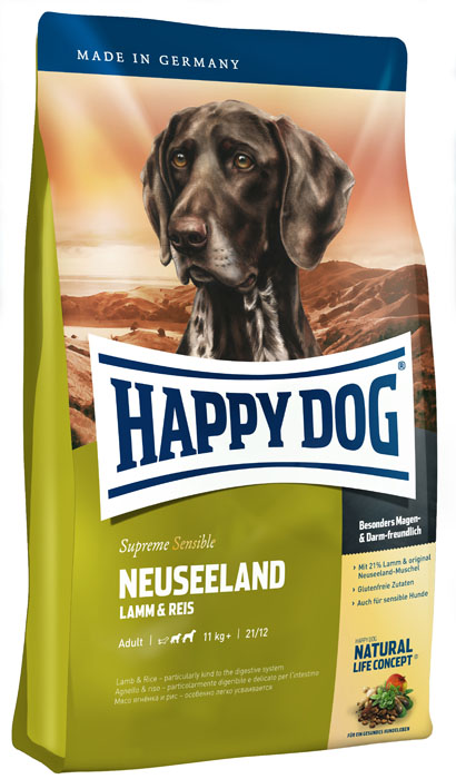 Корм_сухой_для_собак_Happy_Dog_~Neuseeland~,_с_ягненком_и_рисом,_12,5_кг