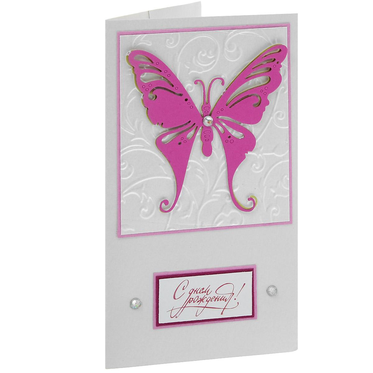 ОЖ-0026 Открытка-конверт «С Днём Рождения» (большая бабочка). Студия «Тётя Роза»94978Характеристики: Размер 19 см x 11 см.Материал: Высоко-художественный картон, бумага, декор. Данная открытка может стать как прекрасным дополнением к вашему подарку, так и самостоятельным подарком. Так как открытка является и конвертом, в который вы можете вложить ваш денежный подарок или просто написать ваши пожелания на вкладыше. Яркая, двухслойная бабочка, раскинувшаяся своими гигантскими крыльями по всей поверхности открытки, задала этому поздравлению яркий и очень эффектный образ, невзирая на чисто-белый фон основного поля открытки. Надпись обрамлена сверкающими стразами, что придает дизайну еще больше выразительности. Также открытка упакована в пакетик для сохранности.Обращаем Ваше внимание на то, что открытка может незначительно отличаться от представленной на фото.Открытки ручной работы от студии Тётя Роза отличаются своим неповторимым и ярким стилем. Каждая уникальна и выполнена вручную мастерами студии. (Открытка для мужчин, открытка для женщины, открытка на день рождения, открытка с днем свадьбы, открытка винтаж, открытка с юбилеем, открытка на все случаи, скрапбукинг)