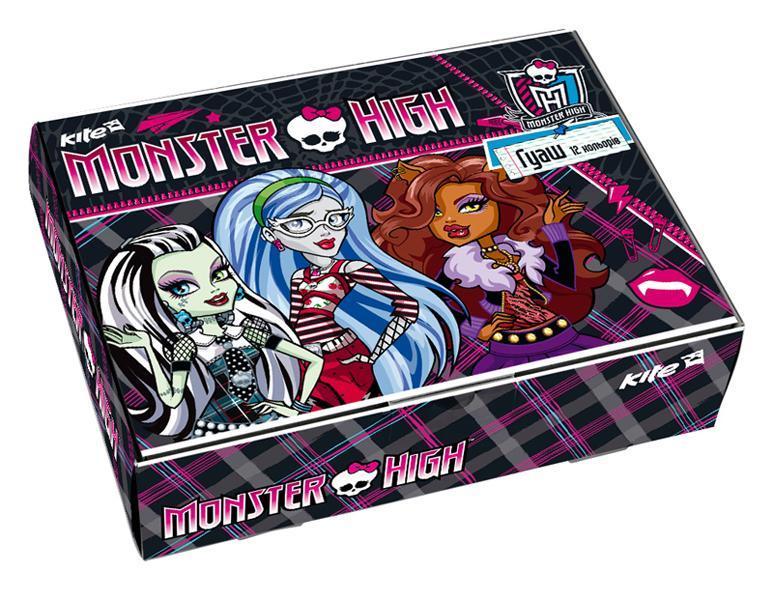 Kite Гуашь Monster High 12 цветов4030969850763Набор гуаши Monster High 12 цветов предназначен для декоративно-оформительских работ и детского творчества. Высокое качество продукции позволит обеспечить необходимые условия для продуктивных занятий изобразительным искусством. Уважаемые клиенты! Обращаем ваше внимание на то, что упаковка может иметь несколько видов дизайна.Поставка осуществляется в зависимости от наличия на складе.