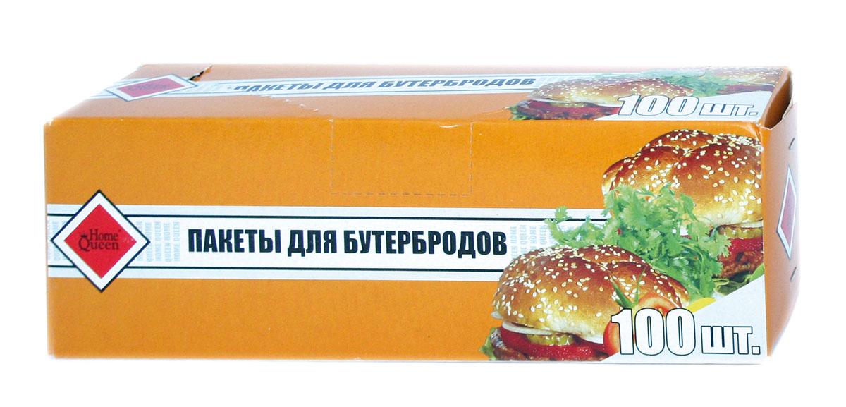 Пакеты для бутербродов Home Queen, 16 см х 24 см, 100 шт57204Пакеты для бутербродов Home Queen изготовлены из полиэтилена низкого давления. Эти прочные и удобные пакеты предназначены для хранения бутербродов, ягод, сыра, колбас, сыпучих продуктов, а также разнообразных хозяйственных мелочей. Фасовочные пакеты - это самый распространенный, удобный и практичный вид современной упаковки. Пакеты для бутербродов Home Queen станут незаменимыми в хозяйстве. Размер пакетов: 16 см х 24 см.