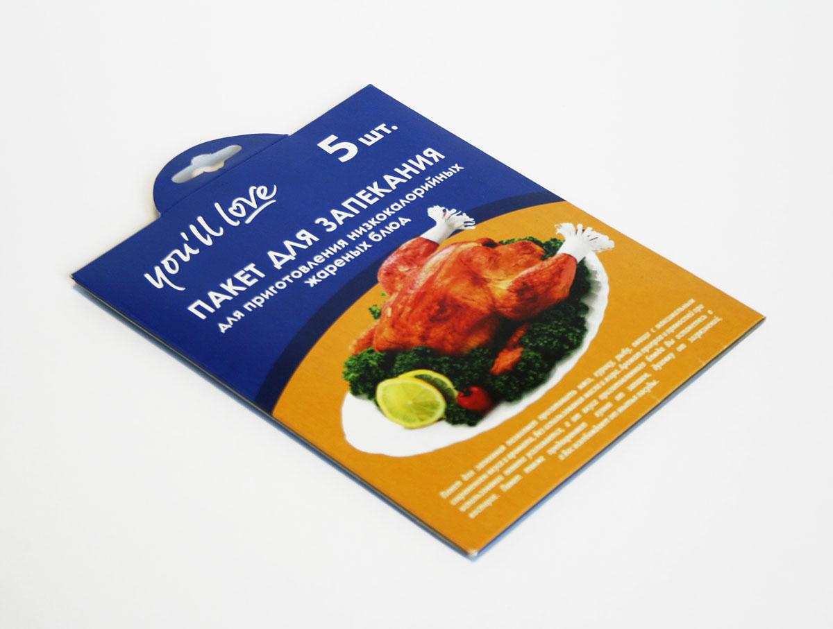 Пакеты для запекания Youll love, с зажимами, 30 х 40 см, 5 шт57251Пакеты для запекания Youll love позволяют приготовить мясо, курицу, овощи с максимальным сохранением вкуса и аромата, без масла и жира. Аромат приправ и пряностей при использовании пакета усиливается, а от вкуса приготовленного блюда вы останетесь в восторге. Пакеты предохраняют кухню от запахов и духовку от загрязнений. Пакеты имеют удобные, термостойкие зажимы. Размер пакетов: 30 см х 40 см.