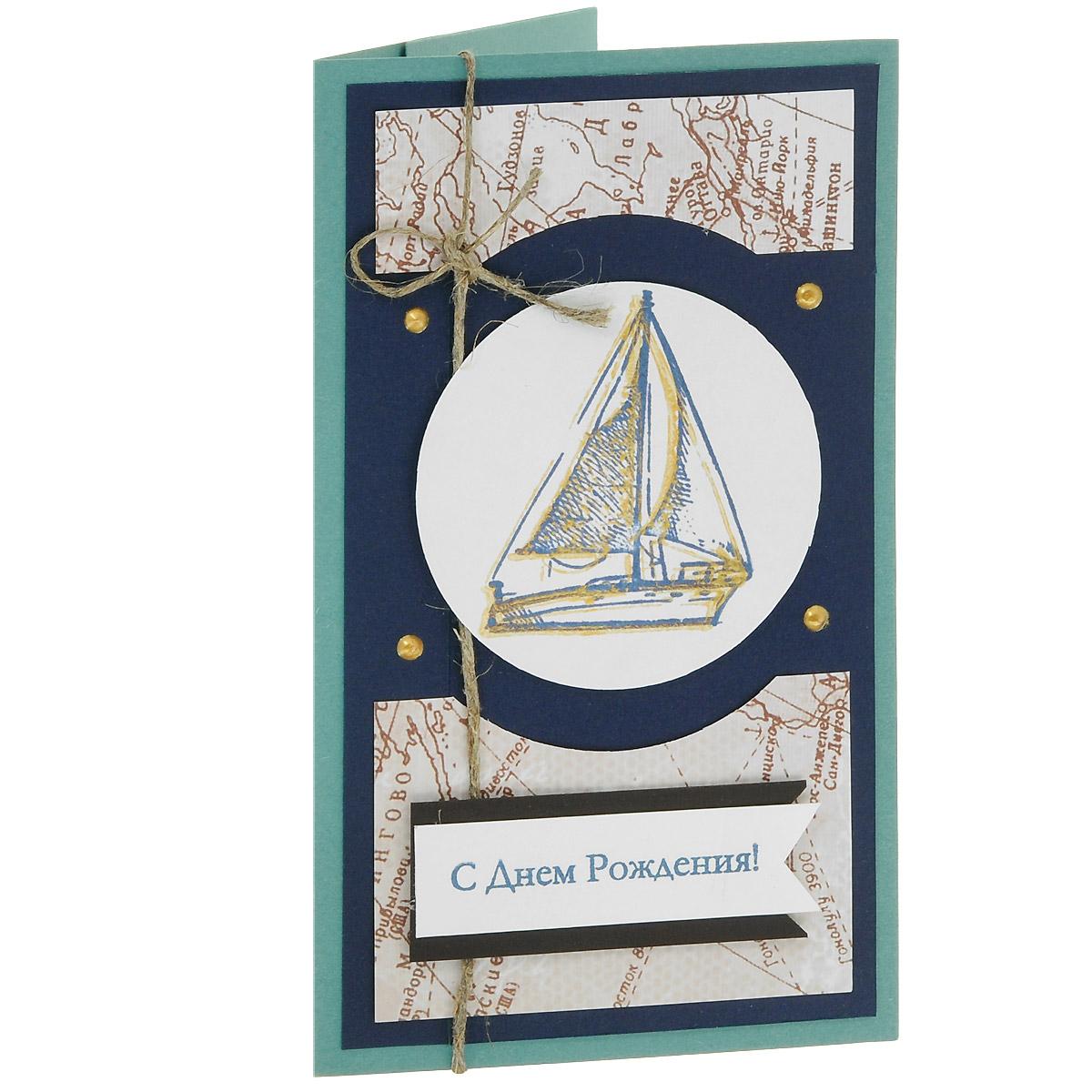 ОМ-0015 Открытка-конверт «С Днём Рождения!» (морские карты, паруса, канаты). Студия «Тётя Роза»94991Характеристики: Размер 19 см x 11 см.Материал: Высоко-художественный картон, бумага, декор.Данная открытка может стать как прекрасным дополнением к вашему подарку, так и самостоятельным подарком. Так как открытка является и конвертом, в который вы можете вложить ваш денежный подарок или просто написать ваши пожелания на вкладыше.Морские карты, паруса и канаты – вот настоящая мужская тема! Небольшое количество декоративных элементов в оформлении подчеркивают сдержанность и выразительность!Также открытка упакована в пакетик для сохранности. Обращаем Ваше внимание на то, что открытка может незначительно отличаться от представленной на фото. Открытки ручной работы от студии Тётя Роза отличаются своим неповторимым и ярким стилем. Каждая уникальна и выполнена вручную мастерами студии. (Открытка для мужчин, открытка для женщины, открытка на день рождения, открытка с днем свадьбы, открытка винтаж, открытка с юбилеем, открытка на все случаи, скрапбукинг)