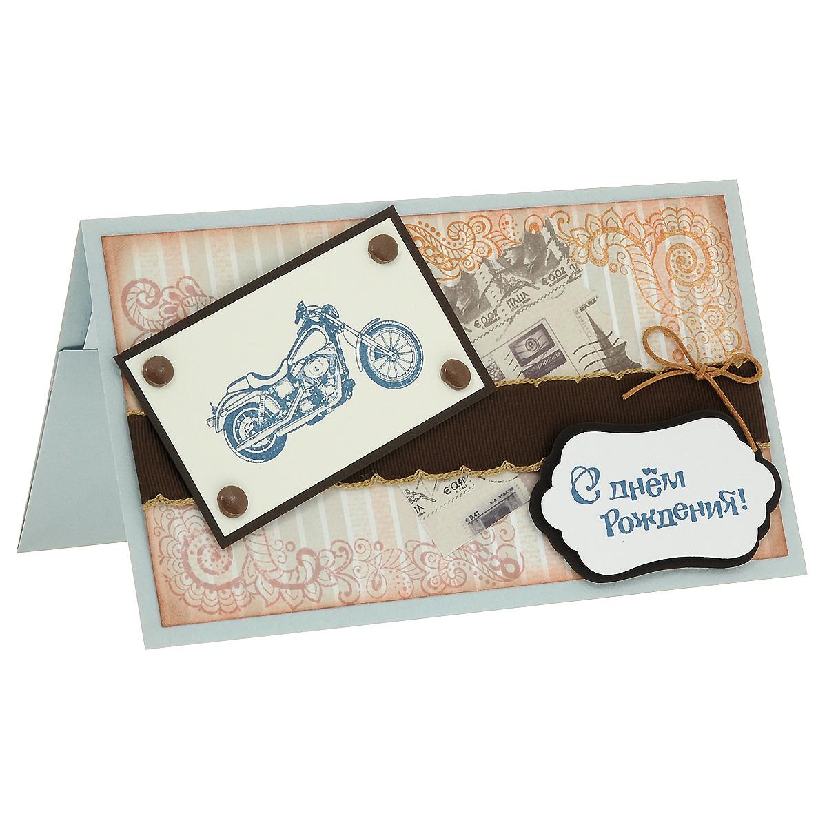 ОМ-0004 Открытка-конверт «С Днём Рождения!» (байк в коричневых тонах). Студия «Тётя Роза»798556Характеристики: Размер 19 см x 11 см.Материал: Высоко-художественный картон, бумага, декор. Данная открытка может стать как прекрасным дополнением к вашему подарку, так и самостоятельным подарком. Так как открытка является и конвертом, в который вы можете вложить ваш денежный подарок или просто написать ваши пожелания на вкладыше. Сдержанная и очень эффектная открытка, подкупающая своей индивидуальной выразительностью, сочетает в себе благородные серо-коричневые тона. Репсовая лента и текст поздравления дополняют образ. Также открытка упакована в пакетик для сохранности.Обращаем Ваше внимание на то, что открытка может незначительно отличаться от представленной на фото.Открытки ручной работы от студии Тётя Роза отличаются своим неповторимым и ярким стилем. Каждая уникальна и выполнена вручную мастерами студии. (Открытка для мужчин, открытка для женщины, открытка на день рождения, открытка с днем свадьбы, открытка винтаж, открытка с юбилеем, открытка на все случаи, скрапбукинг)
