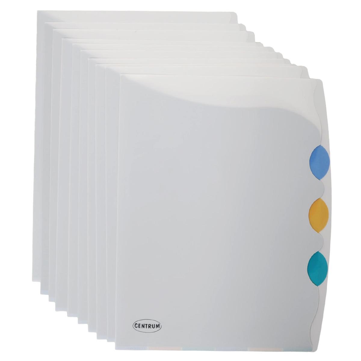 Папка-уголок Centrum, 4 отделения, в ассортименте. Формат А4, 10 шт82272ОПапка-уголок Centrum - это удобный и практичный офисный инструмент, предназначенный для хранения и транспортировки рабочих бумаг и документов формата А4. Папка изготовлена из полупрозрачного пластика толщиной 0,18 мм, имеет 4 отделения с разделителями разных цветов.В комплект входят 10 папок формата А4. Папка-уголок - это незаменимый атрибут для студента, школьника, офисного работника. Такая папка надежно сохранит ваши документы и сбережет их от повреждений, пыли и влаги.Уважаемые клиенты!Товар поставляется в цветовом ассортименте. Отгрузка производится из имеющихся в наличии цветов.
