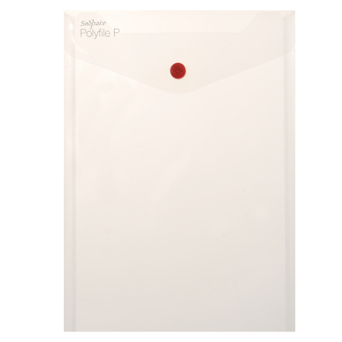 Папка-конверт на кнопке Snopake Polyfile P, вертикальная, цвет: прозрачный. Формат А5K13280