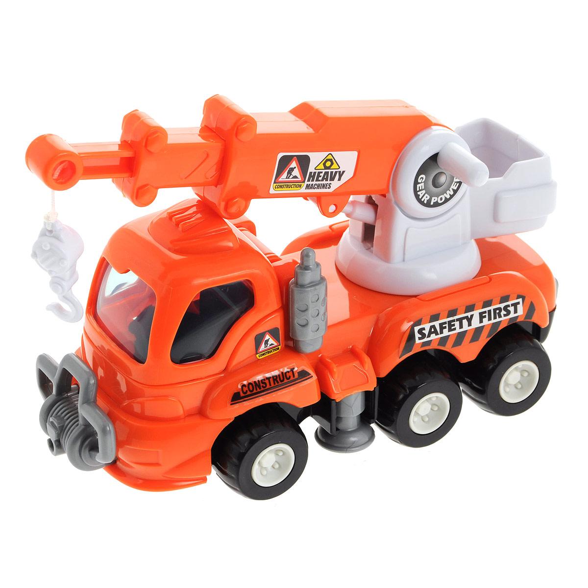 Игрушка Keenway Big Site: Подъемный кран, цвет: оранжевый машинки keenway самосвал