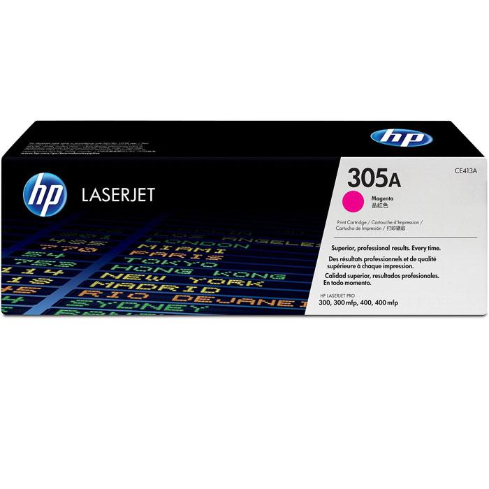 HP CE413A (305A), Magenta тонер-картридж для лазерных принтеровCE413AПурпурный картридж с тонером HP 305A LaserJet помогает создавать документы и маркетинговые материалы профессионального уровня. Поддержка достигнутого уровня производительности путем экономии времени и расходных материалов. Эти картриджи специально разработаны для использования с вашим принтером HP LaserJet Pro.