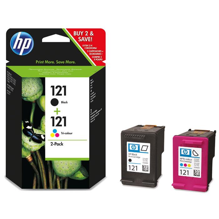 HP CN637HE (121) картриджи для струйного принтера hp 121 black tri color cn637he