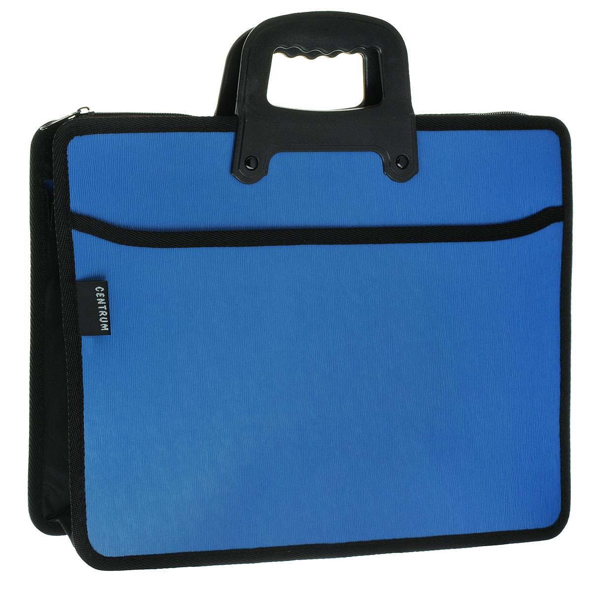 Centrum Папка-портфель на молнии с ручкой цвет голубой