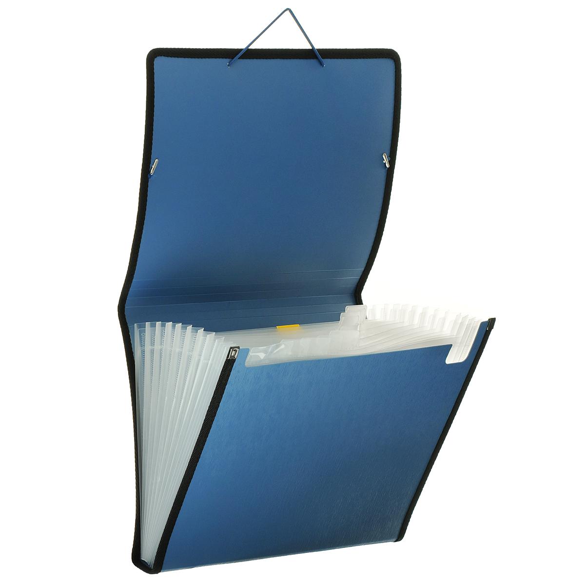 """Папка на резинке """"Centrum"""", 13 отделений, цвет: синий. Формат А4"""