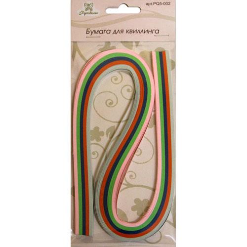 Бумага для квиллинга Рукоделие Ассорти-2, ширина 0,5 см, длина 53 см, 5 цветов, 100 шт485403_002Бумага для квиллинга Рукоделие Ассорти-2 - это порезанные специальным образом полоски бумаги определенной плотности. Такая бумага пластична, не расслаивается, легко и равномерно закручивается в спираль, благодаря чему готовым спиралям легче придать форму. Квиллинг (бумагокручение) - техника изготовления плоских или объемных композиций из скрученных в спиральки длинных и узких полосок бумаги. Из бумажных спиралей создаются необычные цветы и красивые витиеватые узоры, которые в дальнейшем можно использовать для украшения открыток, альбомов, подарочных упаковок, рамок для фотографий и даже для создания оригинальных бижутерий. Это простой и очень красивый вид рукоделия, не требующий больших затрат. Длина полоски бумаги: 53 см. Ширина полоски бумаги: 5 мм. Количество цветов: 5.