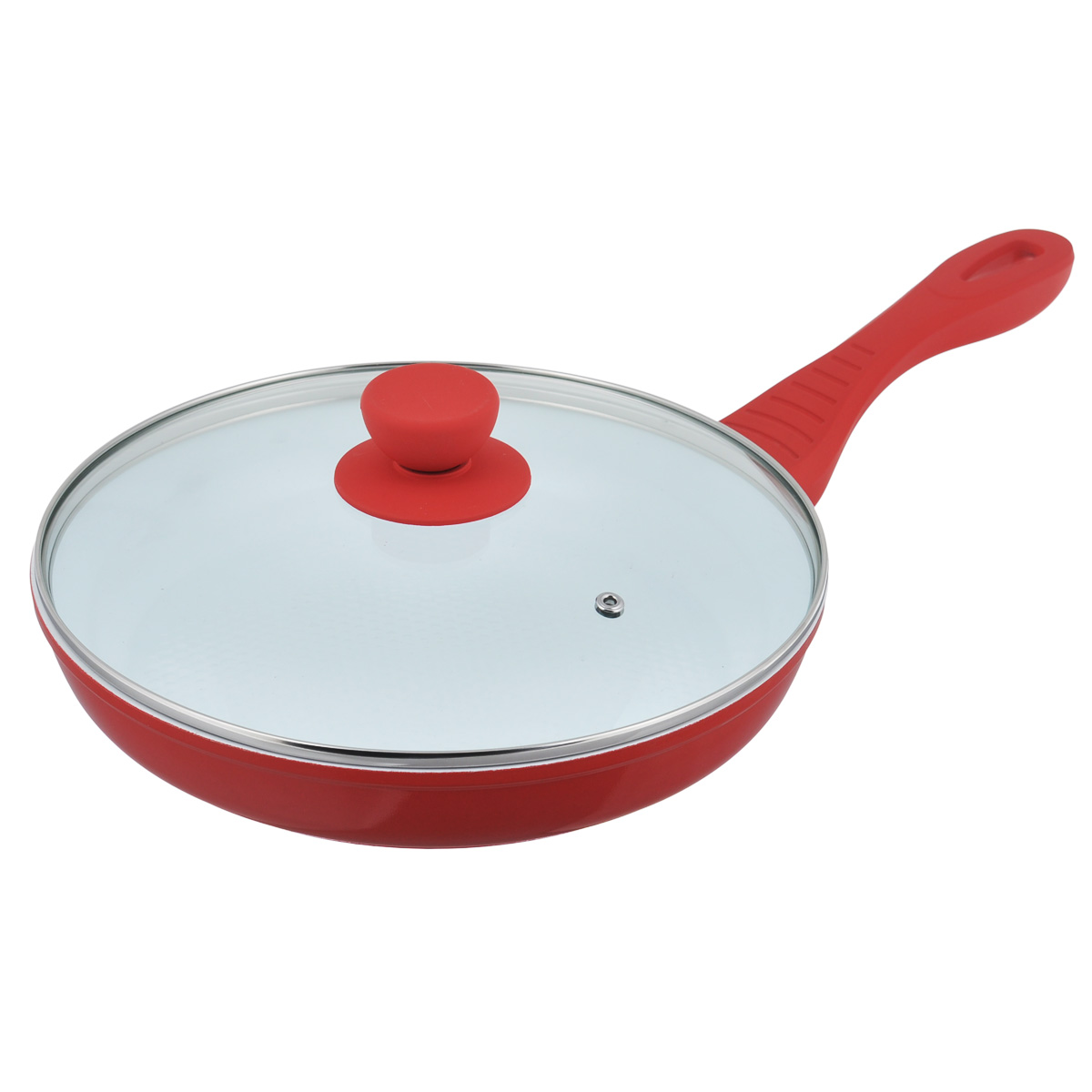 Сковорода Bohmann с крышкой, с керамическим покрытием, цвет: красный. Диаметр 26 см. 7026BH сковороды bohmann сковорода с керамическим покрытием и силиконовой ручкой
