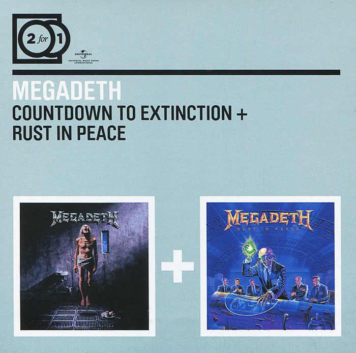 Megadeth Megadeth. Countdown To Extinction / Rust In Peace (2 CD) megadeth countdown to extinction live blu ray
