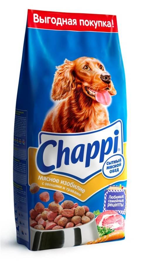 Корм сухой для собак Chappi Сытный мясной обед, мясное изобилие с овощами и травами, 2,5 кг10011Сухой корм Chappi Сытный мясной обед - это специально разработанная еда для собак с оптимально сбалансированным содержанием белков, витаминов и микроэлементов.Уникальная формула Chappi включает в себя все необходимые для здоровья компоненты: - мясо - для силы и энергии в течение дня; - овощи, травы и злаки - для отличного пищеварения; - масла и жиры - для блестящей шерсти и здоровой кожи; - кальций - для крепких зубов и костей; - витамины - для защиты здоровья; - минералы - для подержания собаки в оптимальной форме.Корм Chappi идеально подходит для вашего любимца как надежный источник жизненных сил. Состав: злаки, мясо и субпродукты, жиры животного происхождения, морковь, люцерна, растительные масла, минеральные вещества, витамины.Пищевая ценность в 100 г: белок - 18 г, жиры - 10 г, клетчатка - 7 г, влажность - не более 10 г, зола - 7 г, кальций - 0,8 г, фосфор - 0,6 г, витамин А - 500 МЕ, витамин D - 50 МЕ, витамин Е - 8 мг, витамины В2, В12, пантотеновая и никотиновая кислоты.Энергетическая ценность в 100 г: 350 ккал.Вес: 2,5 кг.Товар сертифицирован.