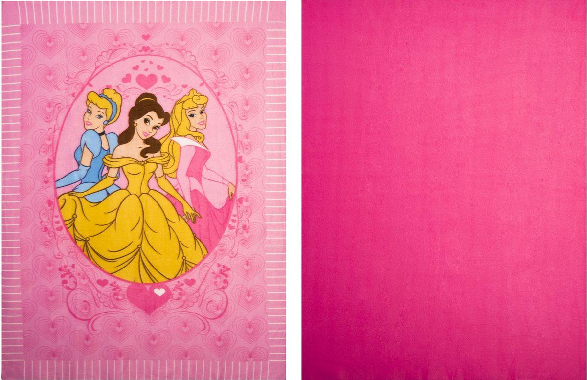 """Набор Disney """"Принцессы"""" состоит из двух флисовых пледов (с рисунком и  однотонный), которые необходимо надрезать по линиям и связать в один  двухслойный плед. С помощью такого набора вы сможете создать своими руками оригинальный двойной плед с бахромой, который порадует вашего ребенка, а также станет замечательным подарком родным и близким! В набор входит: 2 флисовых пледа, инструкция на русском языке. Размер пледа: 122 см х 152 см (2 шт)."""