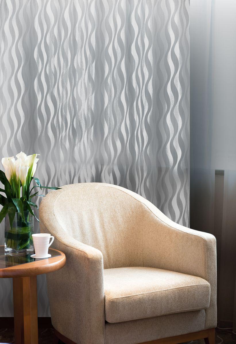 Штора Home Queen Волны, на петлях, цвет: белый, высота 250 см61104Изящная штора Home Queen Волны выполнена из 60% полиэстера и 40% вискозы. Штора с приятной фактурой и современным дизайном выполнена в оригинальной технике выжженных волокон burn out. Полупрозрачная ткань и стильный графический принт привлекут к себе внимание и органично впишутся в интерьер помещения. Такая штора идеально подходит для солнечных комнат. Мягко рассеивая прямые лучи, она хорошо пропускает дневной свет и защищает от посторонних глаз. Отличное решение для многослойного оформления окон. Эта штора будет долгое время радовать вас и вашу семью!Штора крепится на карниз при помощи петель.