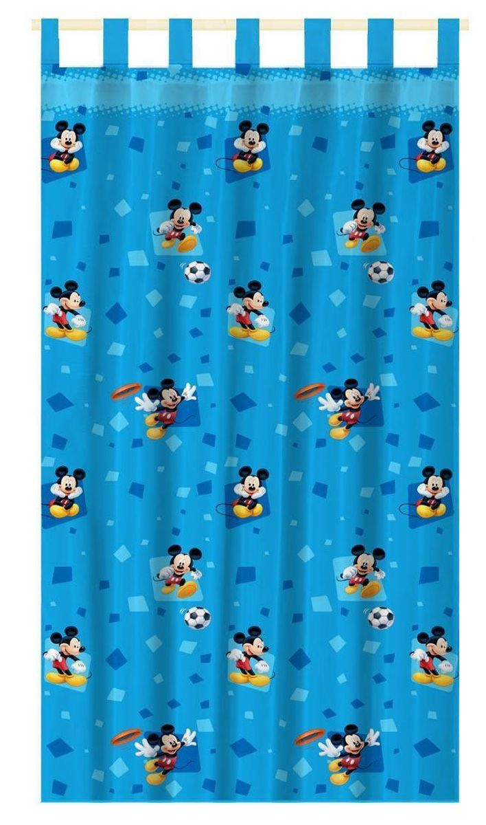 Штора интерьерная Disney Микки Маус, на петлях, высота 280 см64889Штора Disney Микки Маус изготовлена из 100% полиэстера. Она удобна в эксплуатации и проста в уходе. Изделие не деформируется и не теряет яркость нанесенного рисунка. Штора интерьерная Disney Микки Маус с изображением любимого героя украсит детскую комнату и непременно будет радовать вашего ребенка.Крепится на петлях. Рекомендации по уходу: стирать в ручном режиме без использования отбеливающих средств. Химчистка запрещена.
