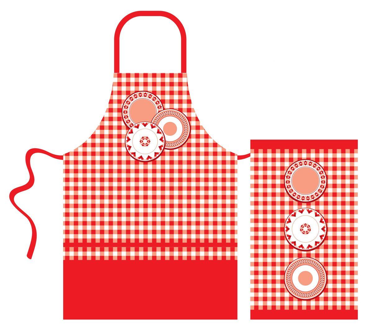 Набор кухонного текстиля Home Queen Red kitchen: фартук, полотенце67419Набор кухонного текстиля Home Queen Red kitchen, состоящий из фартука и полотенца, выполнен из 100% хлопка и украшен ярким клетчатым принтом и изображением тарелок.Фартук на завязках вокруг талии. Такой набор украсит интерьер вашей кухни и внесет яркую ноту в повседневные заботы.