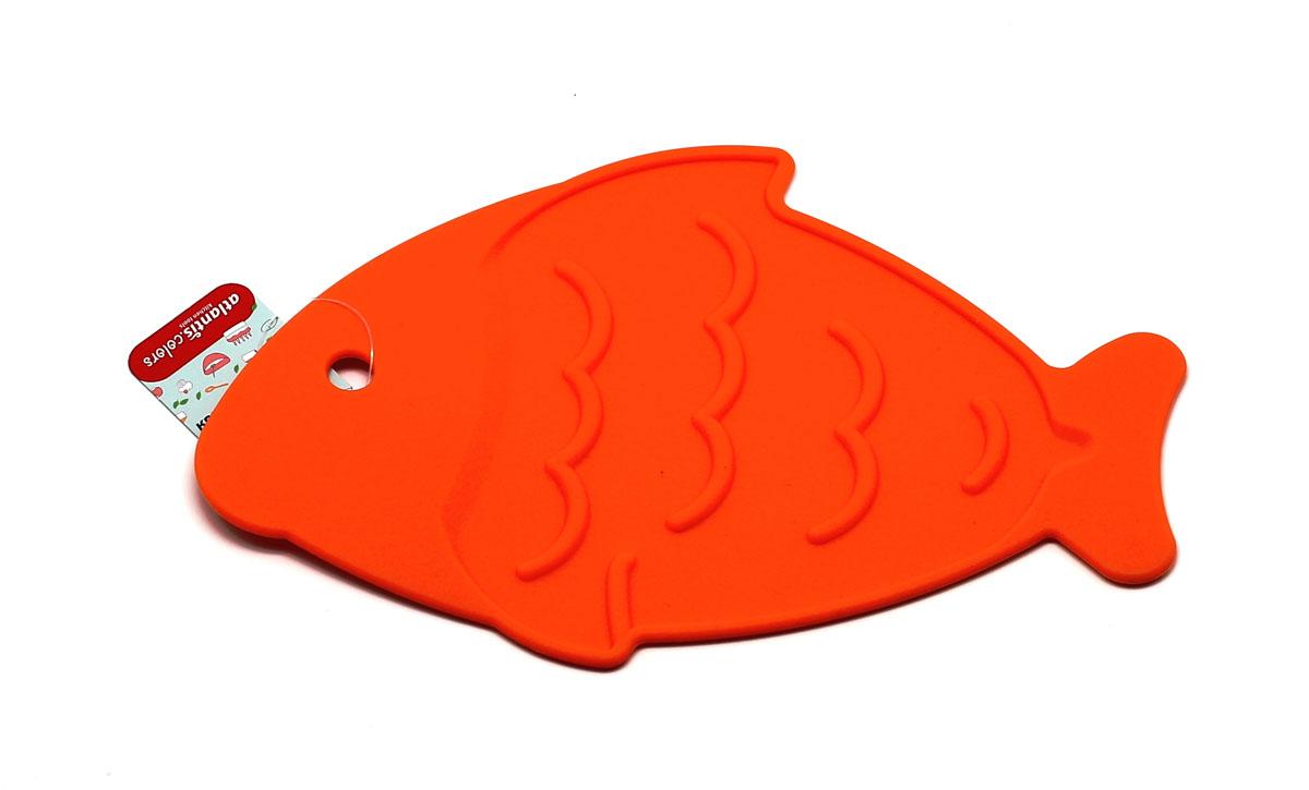 Подставка под горячее Atlantis Рыба, цвет: оранжевый, 26 х 17 см. SC-MT-013-OSC-MT-013-OПодставка под горячее Atlantis Рыба изготовлена из высококачественного пищевого силикона.Выдерживает температуру до +230°С, не впитывает запахи и предохраняет поверхность вашегостола от высоких температур. Оригинальный дизайн внесет свежесть и новизну в интерьер кухни. Подставка под горячее Atlantis Рыба станет незаменимым помощником на кухне. Можно мыть в посудомоечной машине.