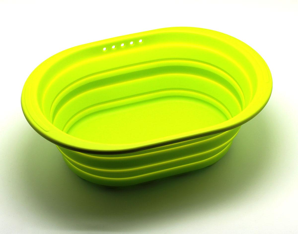 Контейнер складаной Atlantis, цвет: зеленый, 38 х 27 х 2,7 см. SC-SB-017-GSC-SB-017-GСиликоновый контейнер прекрасно подходит к хранению и транспортировке пищевых продуктов. Выполнен из 100% силикона – экологичного материала, который не взаимодействует с пищей. Контейнер занимает мало места, легкий, не впитывает запахи. Благодаря уникальной конструкции, в сложенном виде занимает мало места и легко помещается в любой ящик или полку.