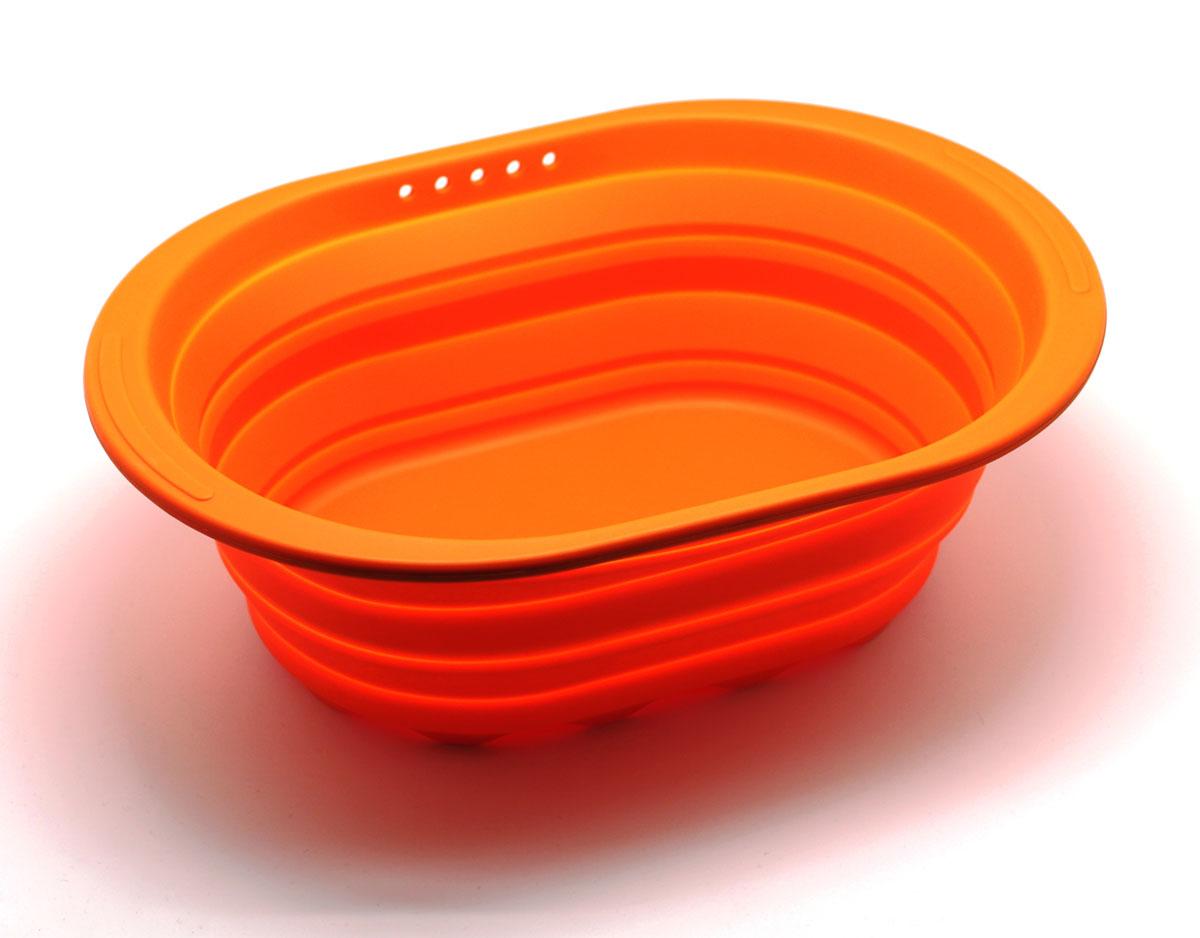 Контейнер складаной Atlantis, цвет: оранжевый, 38 х 27 х 2,7 см. SC-SB-017-OSC-SB-017-OКонтейнер Atlantis прекрасно подходит к хранению и транспортировке пищевых продуктов. Выполнен из 100% силикона – экологичногоматериала, который не взаимодействует с пищей. Контейнер занимает мало места, легкий, не впитывает запахи.Благодаря уникальнойконструкции, в сложенном виде занимает мало места и легко помещается в любой ящик или полку. Ширина: 27 смВысота: 2,7 смГлубина: 38 см