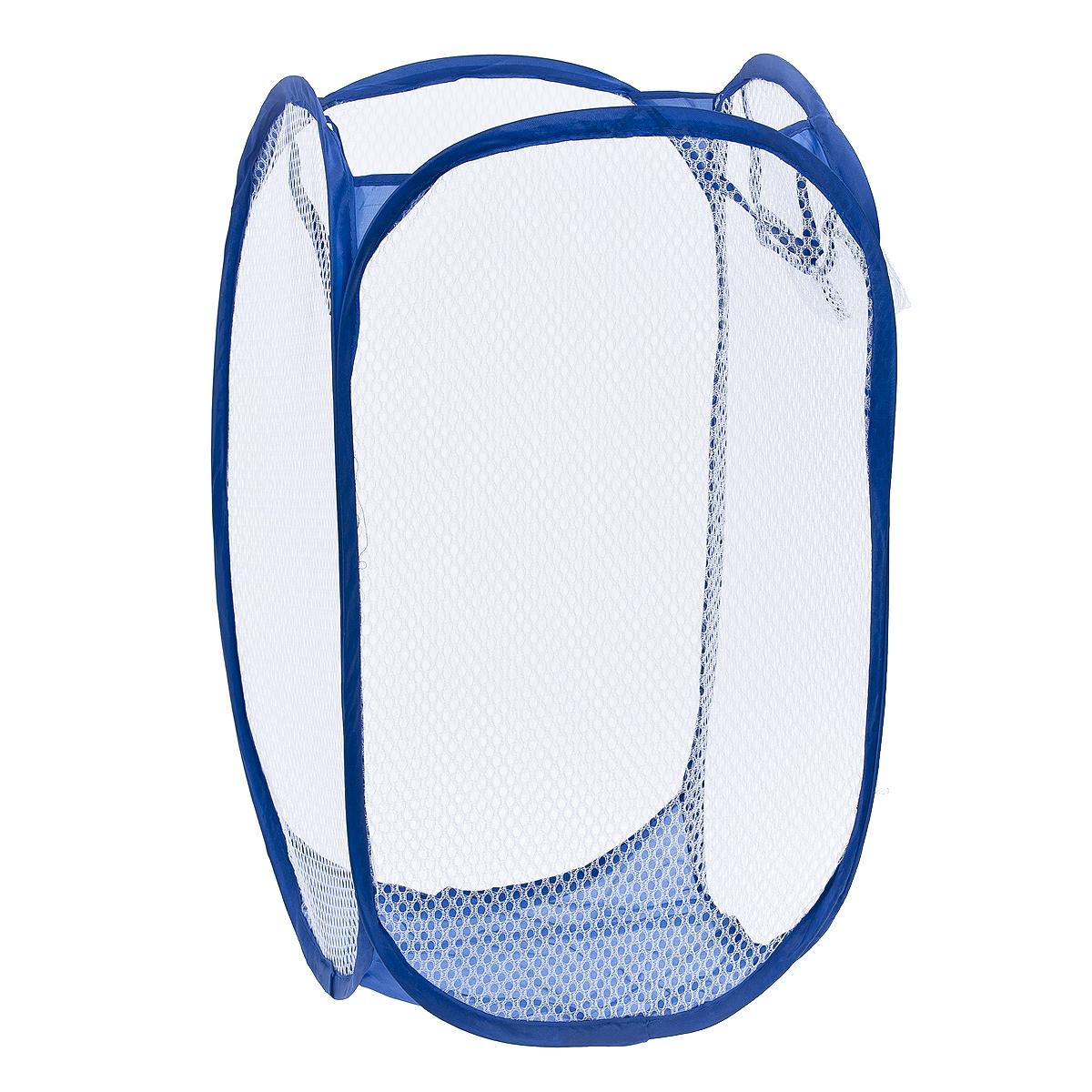 """Корзина для белья """"Fresh Code"""" изготовлена из полипропилена и металла и предназначена  для сбора и хранения  вещей перед стиркой. Компактная и  легкая складная корзина не занимает много места, аккуратно хранит белье, украшает  ванную комнату. Вместительная корзина выполнена в форме куба. Сверху имеются  ручки  для переноски корзины. С четырех сторон корзина выполнена из сетки, для вентиляции  белья. Сбоку  имеется карман. Корзина для белья """"Fresh Code"""" станет оригинальным  украшением интерьера ванной комнаты."""