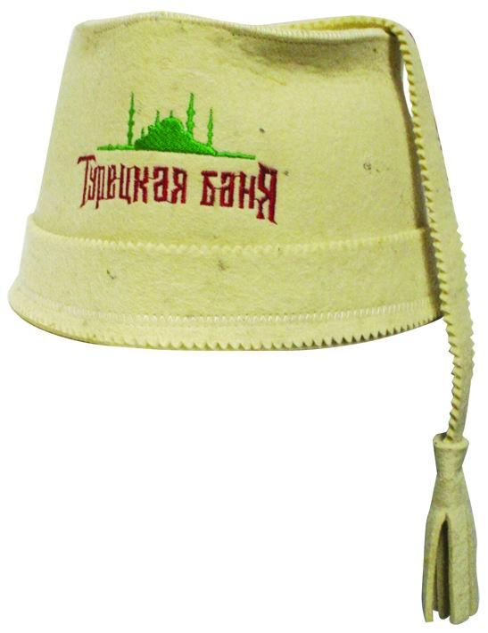Шапка для сауны Home Queen Феска шапка для бани и сауны доктор баня классическая кант