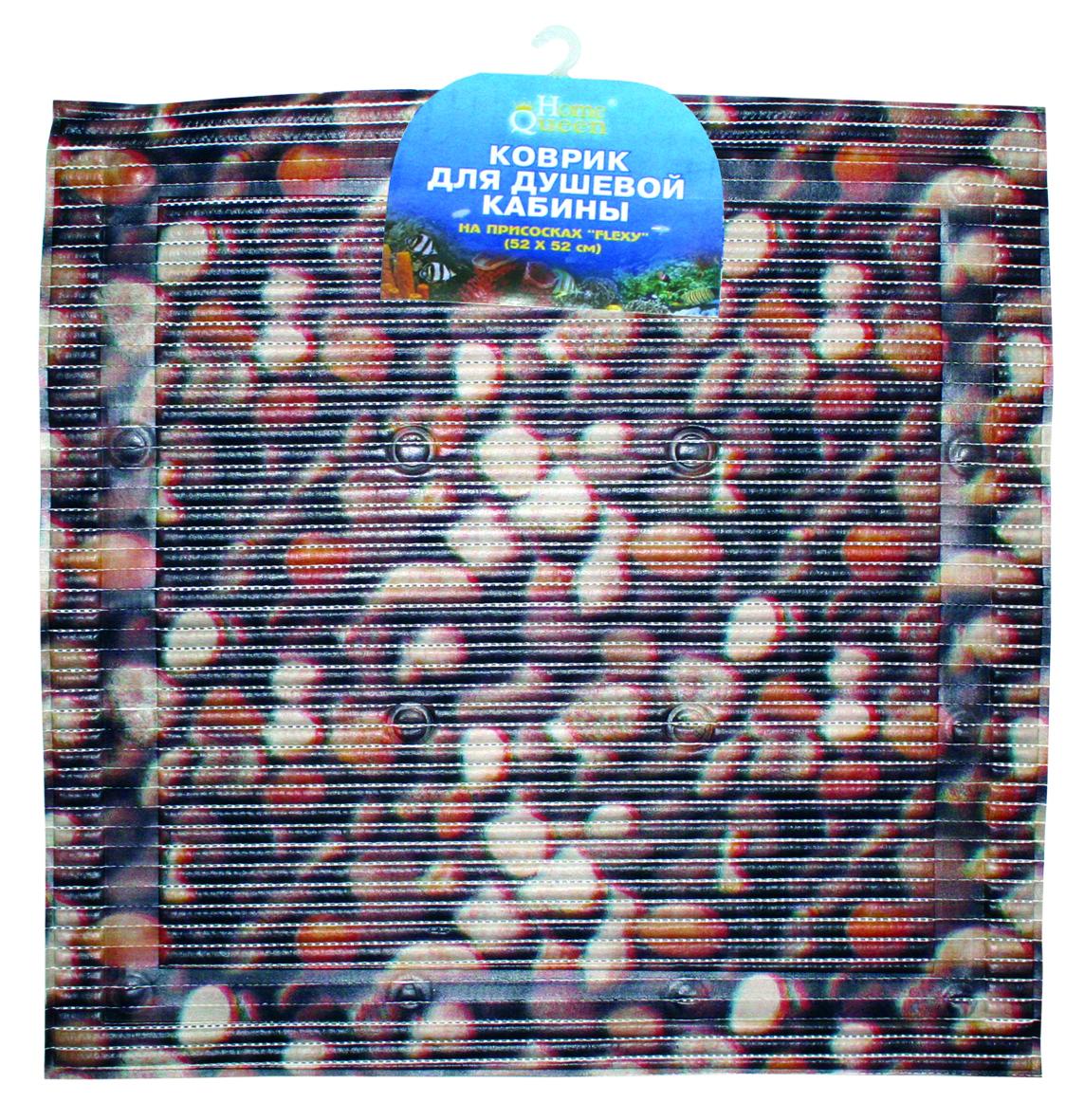 Коврик для душевой кабины Flexy, на присосках, цвет: темно-коричневый, 52 см х 52 см55767Квадратный коврик с присосками предназначен для душевой кабины, но его также можно использовать как напольный коврик для ванной комнаты. Присоски обеспечивают антискользящий эффект, мягкая поверхность коврика создает комфортное покрытие. Красивый яркий рисунок декорирует ванную комнату.Рекомендации по уходу: протрите коврик влажной губкой с мягким моющим средством, тщательно ополосните чистой водой и просушите.