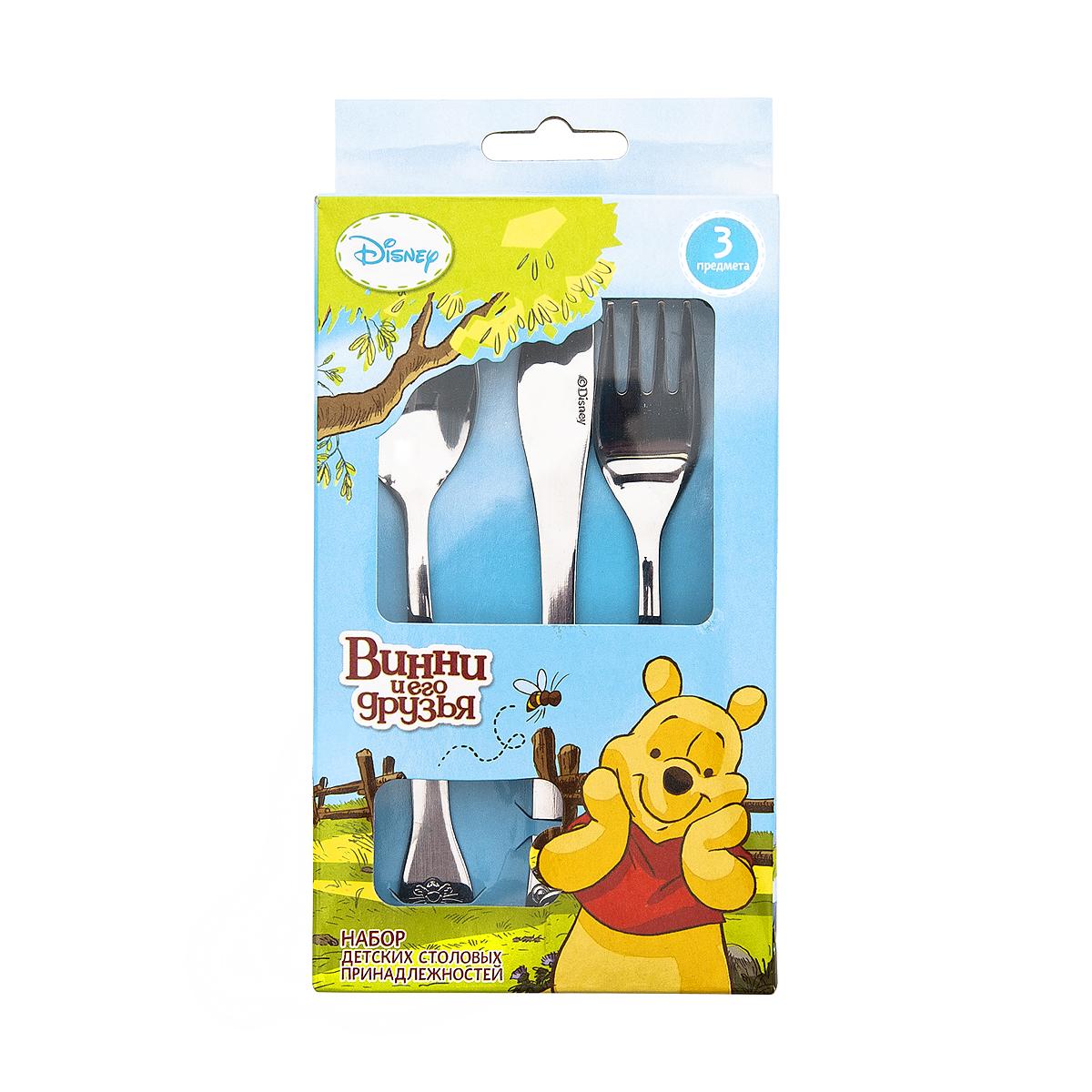 """Набор детских столовых приборов Disney """"Винни и его друзья"""", 3 предмета"""