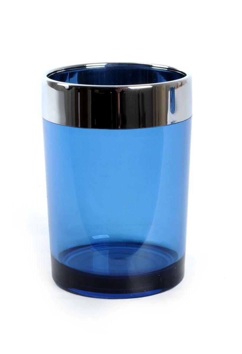 Стакан для ванной Fresh Code Элегант, цвет: синий, 280 мл стакан для ванной fresh code бамбук цвет салатовый 500 мл