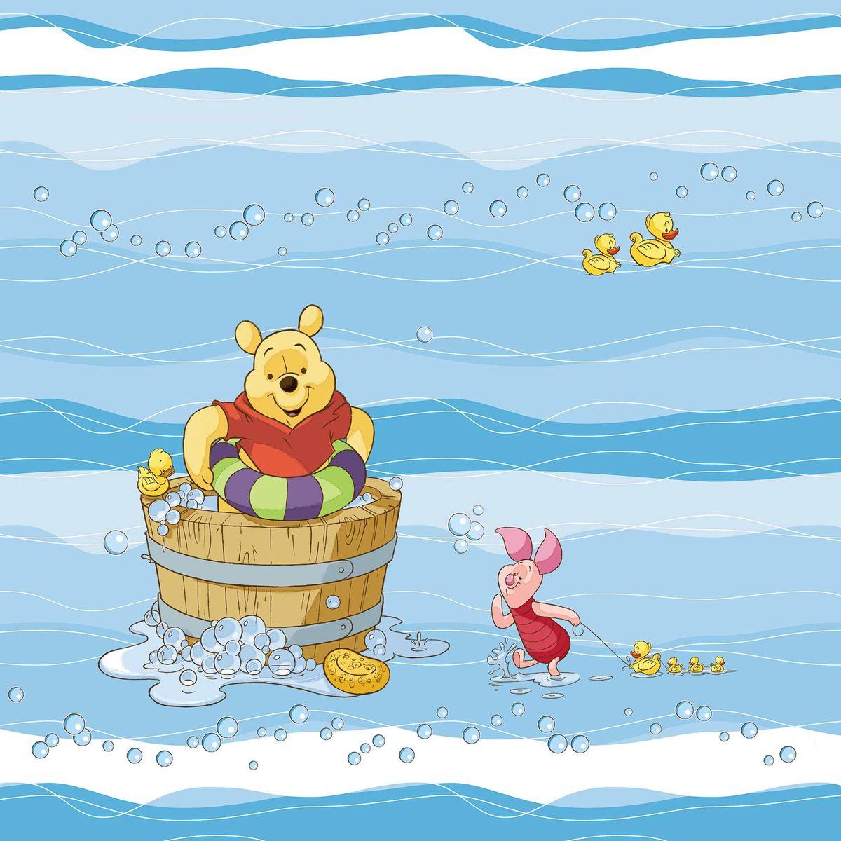 Штора для ванной комнаты Disney  Винни и его друзья , 180 х 180 см - Шторки, кольца и карнизы для ванной
