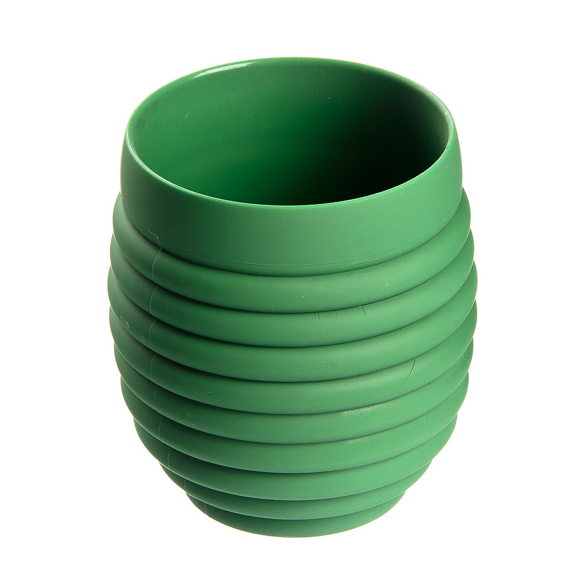 Стакан для ванной Fresh Code Волна, цвет: зеленый, 350 мл стакан для ванной fresh code бамбук цвет салатовый 500 мл