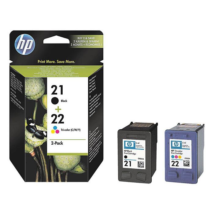 HP SD367AE (21) (C9351АE/C9352AE), Black Сolor картриджи для струйного принтера перезаправляемые картриджи для hp рhotosmart c6375 картриджи 178