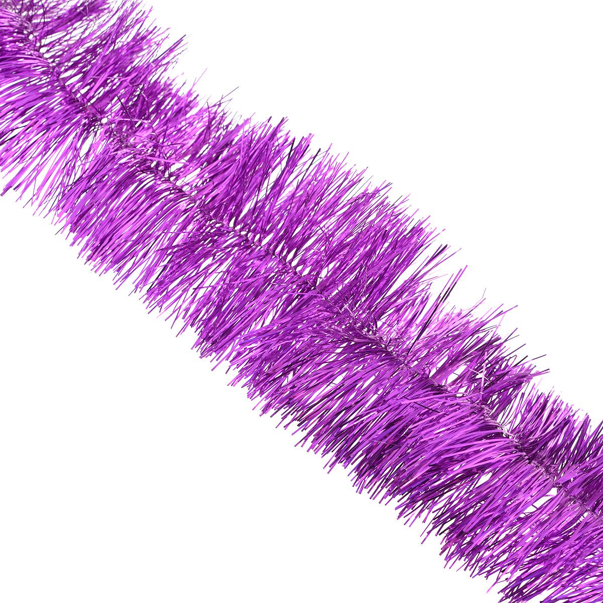 Мишура новогодняя Sima-land, цвет: фиолетовый, диаметр 9 см, длина 165 см. 701307 новогодняя декоративная фигурка sima land елка достатка и процветания высота 12 5 см