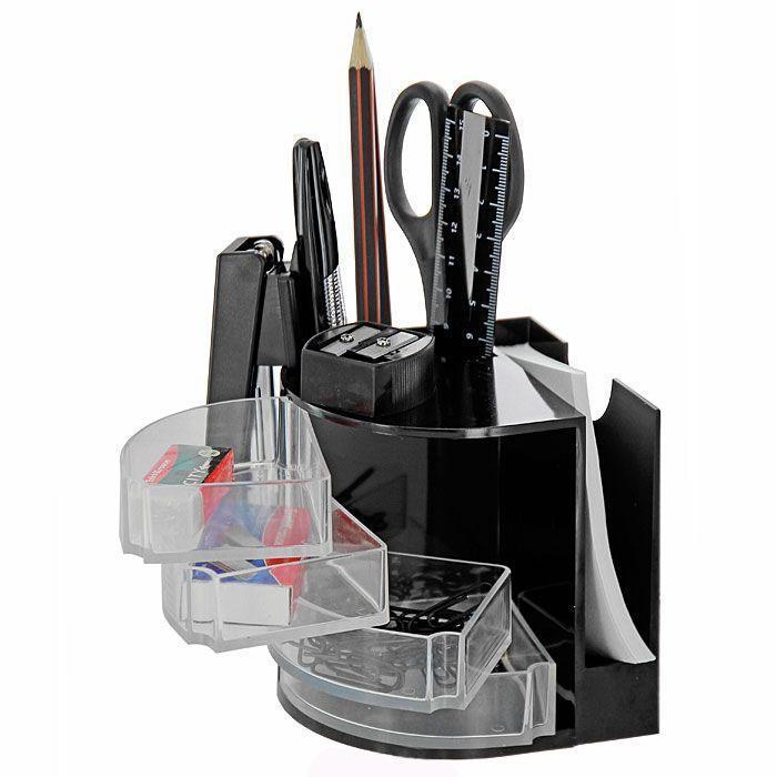 Набор настольный Erich Krause  Венеция , цвет: черный, 13 предметов - Органайзеры, настольные наборы