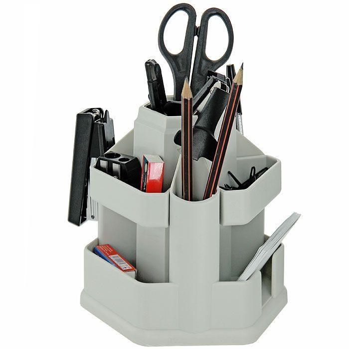 Набор настольный Erich Krause  Офисный , цвет: серый, 15 предметов -  Органайзеры, настольные наборы