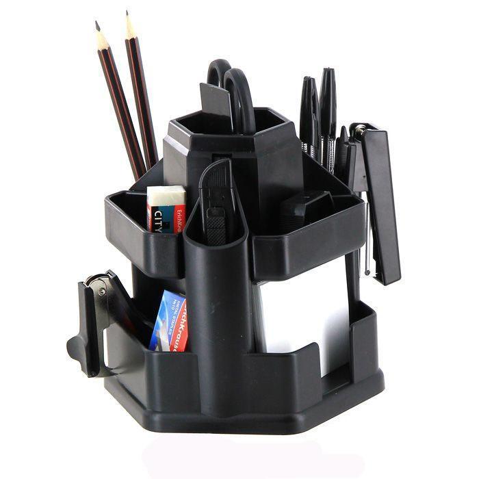 Набор настольный Erich Krause  Офисный , цвет: черный, 15 предметов - Органайзеры, настольные наборы