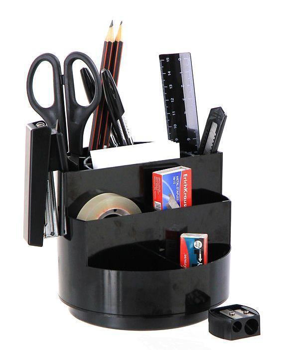 Набор настольный Erich Krause  Мини-Бюргер , цвет: черный, 15 предметов -  Канцелярские наборы