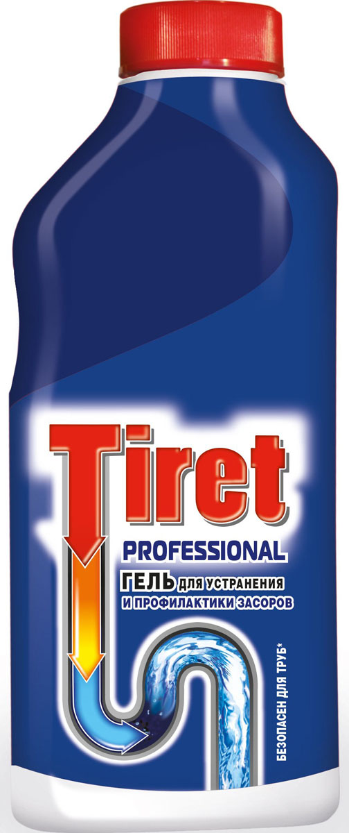 Гель для удаления засоров Tiret professional, 500 мл7506505Гель Тiret professional предназначен для чистки труб. Гель эффективно устраняет очень сильные засоры лучше, чем традиционные методы и средства. Густая структура геля позволяет продукту проникать глубоко в трубу даже при наличии воды в раковине. Убивает бактерии и устраняет неприятный запах.Характеристики: Объем: 500 мл.Товар сертифицирован.Как выбрать качественную бытовую химию, безопасную для природы и людей. Статья OZON Гид
