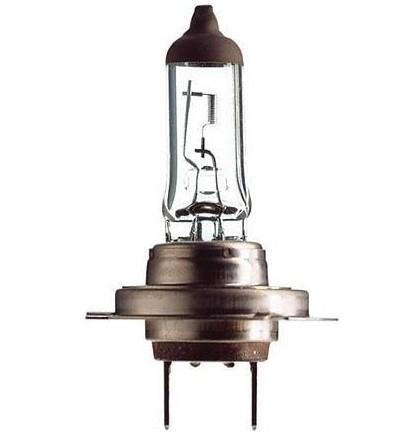 Лампа автомобильная галогенная Philips LongLife EcoVision, для фар, цоколь H7 (PX26d), 12V, 55W12972LLECOB1 (бл.)Автомобильная галогенная лампа Philips LongLife EcoVision произведена из запатентованного кварцевого стекла с УФ-фильтром Philips Quartz Glass. Кварцевое стекло Philips с УФ фильтром в отличие от обычного твердого стекла выдерживает гораздо большее давление смеси газов внутри колбы, что препятствует быстрому испарению вольфрама с нити накаливания. Кварцевое стекло выдерживает большой перепад температур, при попадании влаги на работающую лампу изделие не взрывается и продолжает работать. Срок службы лампы Philips LongLife EcoVision в 4 раза больше, чем у стандартной лампы, поэтому ее выбирают водители, которые хотят сократить затраты на техническое обслуживание своих автомобилей. С такими лампами водителям не нужно беспокоиться о замене ламп для головного освещения на протяжении 100 000 км. Автомобильные галогенные лампы Philips удовлетворят все нужды автомобилистов: дальний свет, ближний свет, передние противотуманные фары, передние и боковые указатели поворота, задние указатели поворота, стоп-сигналы, фонари заднего хода, задние противотуманные фонари, освещение номерного знака, задние габаритные/стояночные фонари, освещение салона.