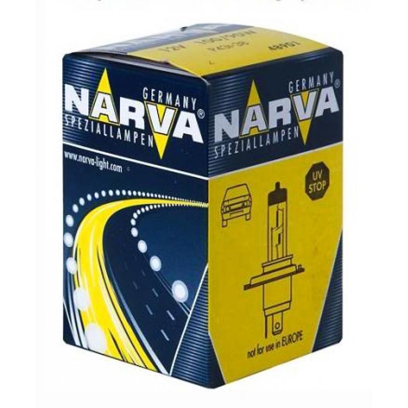 Лампа автомобильная Narva Rally H4 12V-100/90W (P43t) 4890148901Галогенные лампы NARVA пригодны для всех современных автомобилей, оборудованных фарами головного света, предусматривающими использование галогенных ламп. Эти лампы могут использоваться круглый год в любых погодных условияхНапряжение: 12 вольт
